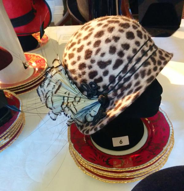 fisher leopard hat